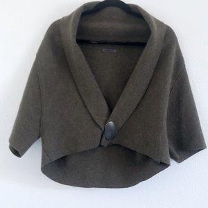 Oska   olive green wool shrug jacket